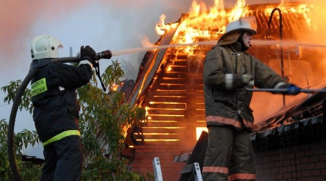 В Арсеньеве сгорела баня